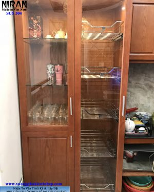 kệ tủ đồ khô inox 304 Niran NR0402