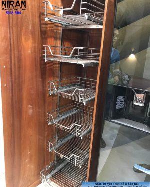 lắp đặt kệ tủ đồ khô 6 tầng inox 304
