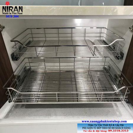 giá chén dĩa xoong nồi inox 304 Niran NR021