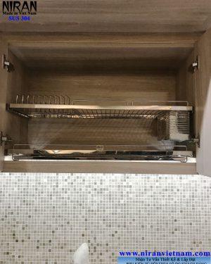 Kệ chén dĩa âm tủ 2 tầng Niran NR0105