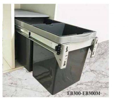 Thùng rác đôi EB300 gắn cánh âm tủ – Eurogold
