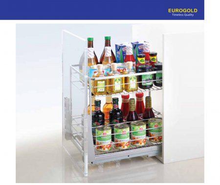 Giá gia vị ERO.2040B2 inox nan vuông – Eurogold