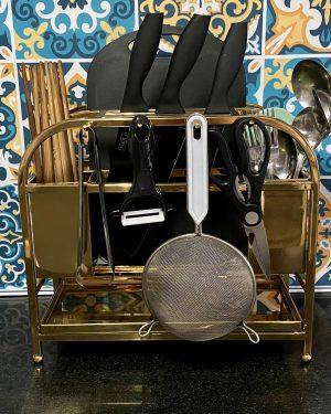 Kệ treo dụng cụ bếp inox 304 Gold Niran NR3019