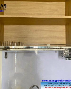 Kệ để chén dĩa âm 1 tầng inox 304 Niran NR0118