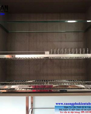 Kệ chén tủ trên 2 tầng inox 304 Niran NR0115