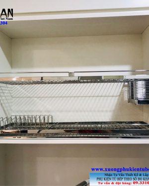 kệ chén dĩa inox 304 2 tầng